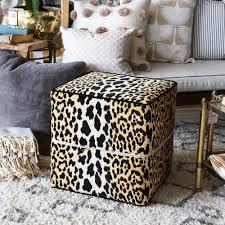 animal print ottoman coffee table ottoman diy awesome image of