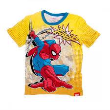marvel ultimate spiderman full print yellow boys t shirt