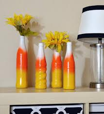 Diy Plastic Bottle Vase Diy Fall Candy Corn Bottle Vases Mom Spark Mom Blogger