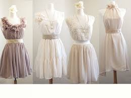 french lace mismatched bridesmaid dresses neutral dress