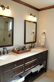 white wall paint round mirror with frame wall lamps granite