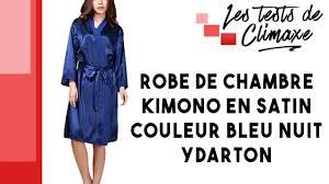 robe de chambre en satin test d une robe de chambre en satin ydarton couleur bleu nuit
