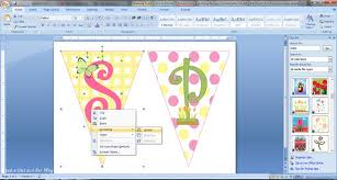 cara membuat x banner dengan publisher how to make a bunting banner in word with clip art tips and tricks