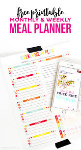 party menu planner template monthly and weekly free printable meal planner printable crush use this free printable meal planner to keep track of your menu plan and health goals