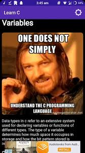 Application Meme - application when a application for learning the c programming