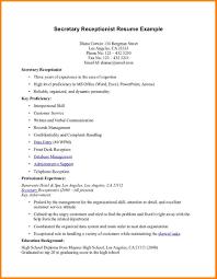 Receptionist Resume Template Free Unforgettable Receptionist Resume Examples To Stand Out Resume