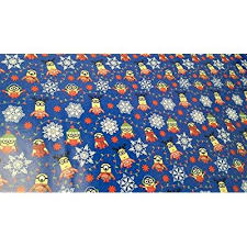 minion wrapping paper christmas wrapping minion snowflake paper gift greetings 1