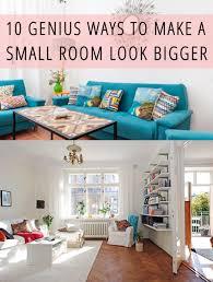 make small room look bigger home design