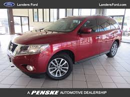 2014 used nissan pathfinder 2wd 4dr sv at landers ford serving