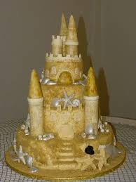 beach wedding cake sand castle merry brides sand castle wedding