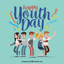 happy youth day background with vector free