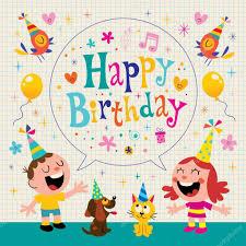 imagenes cumpleaños niños feliz cumpleaños niños diseño de tarjetas de felicitación archivo