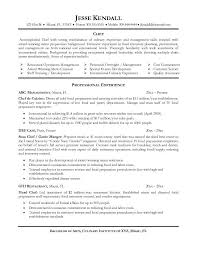 chef resume template entry level chef resume pertamini co