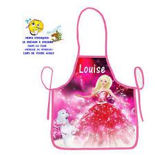 princesse cuisine tablier de cuisine enfant princesse personnalisé prénom au choix réf