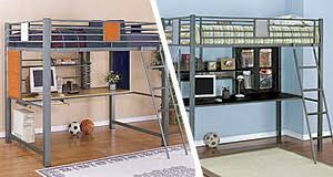 Full Size Metal Loft Bed With Desk by Teen Furniture Teen Bedroom Furniture