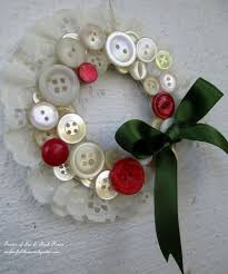 how to make vintage button wreath ornaments button wreath