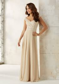 bridesmaid gowns chiffon bridesmaids dress with embroidery and beading morilee