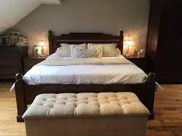 lombok dark wood super king size bed frame in southgate london