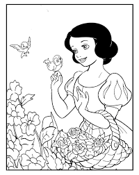 printable snow white coloring pages princess coloring pages