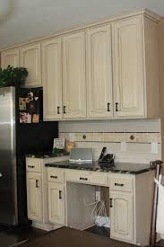 how to distress kitchen cabinets distressed white antique kitchen cabinet with granite countertop