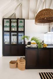 kitchen style kitchen dark timber cabinets exposed beams design
