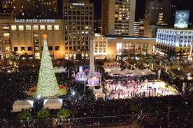 sf christmas tree lighting 2017 2017 macy s great tree lighting union square funcheap