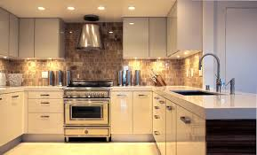 under cabinet led puck lights interior design modern kitchen with lacquered kitchen cabinets
