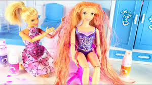 barbie rapunzel princess dolls hair wash hair change color
