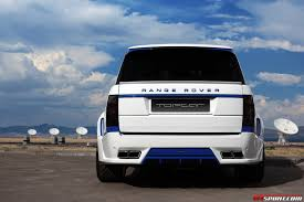 blue range rover vogue white lumma design range rover vogue clr r with blue accents