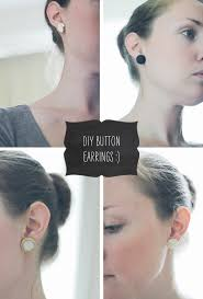 diy button earrings diy button earrings