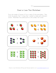 all worksheets greater than worksheets for first grade