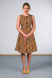 coloured dress como dress multi coloured spot ella sunday