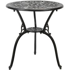 Aluminium Bistro Table And Chairs Charles Bentley Furniture Cast Aluminium Bistro Set Black With Red