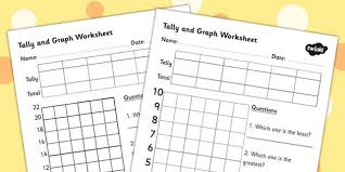 all worksheets bar graph and tally chart worksheets printable
