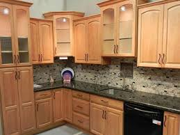 kitchen desaign kitchen color schemes with light wood cabinets kitchen color schemes with light wood cabinets plus cabinet with lamps and glass door then cabinet with vanity sink and mosaic tiles backsplashes also dark