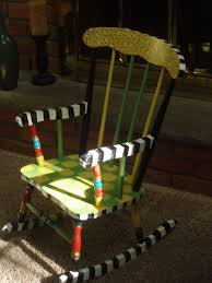 Unfinished Child S Rocking Chair Hand Crafted Hand Painted Child U0027s Rocking Chair Custom By