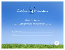 borderless certificate templates baby dedication certificate template baby dedication pinterest