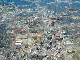 Gsu Campus Map I Took A Stab At Labeling That Aerial View Of Atlanta Atlanta