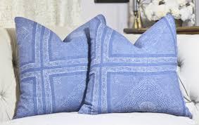 Indigo Home Decor Bohemian Pillow Blue Moroccan Pillow Raoul Textiles Pillow