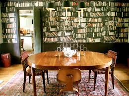 mid century oval dining table bookcase wallpaper dining room eclectic with oval dining table oval