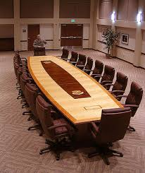room and board custom table conference table logo inlays paul downs cabinetmakers