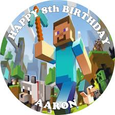 minecraft edible cake topper minecraft edible cake topper option 1