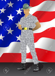 Position Of Flags Military Drill Instructor Standing In Parade Rest Position With