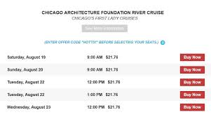 Architectural River Cruise Discount Chicago Architecture Foundation River Cruises Chicago