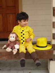 cute halloween costumes for little boys diy halloween costume man in the yellow hat from curious george