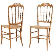 1950 Modern Furniture by Pair Of Chiavari Dining Room Chairs By Fratelli Levaggi Circa