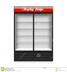 sliding glass door fridge double glass sliding door display fridge stock vector image