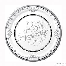 anniversary plates 25th anniversary dessert plates 18 pack