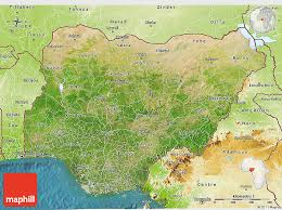 nigeria physical map satellite 3d map of nigeria physical outside satellite sea