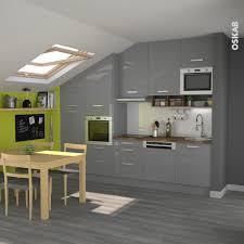cuisine mur et gris cuisine rustique grise au style rétro meubles gris et brillants